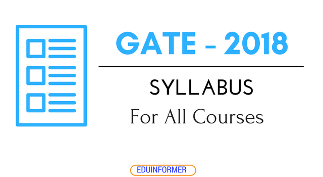 Gate Results 2019 Twitter: Latest GATE 2019 Syllabus For Different Courses