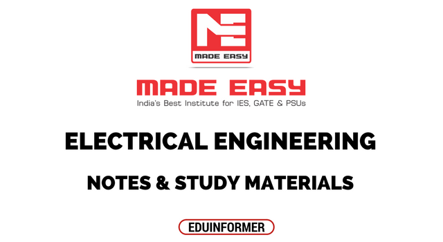 Made Easy Electrical Engineering Notes and Study Materials