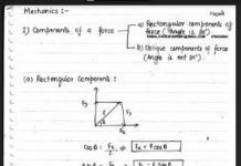 Basics-of-Mechanics-Handwritten-Notes-PDF