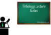 Tribology-Lecture-Notes-PDF