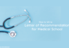 letter of recommendation for medical school